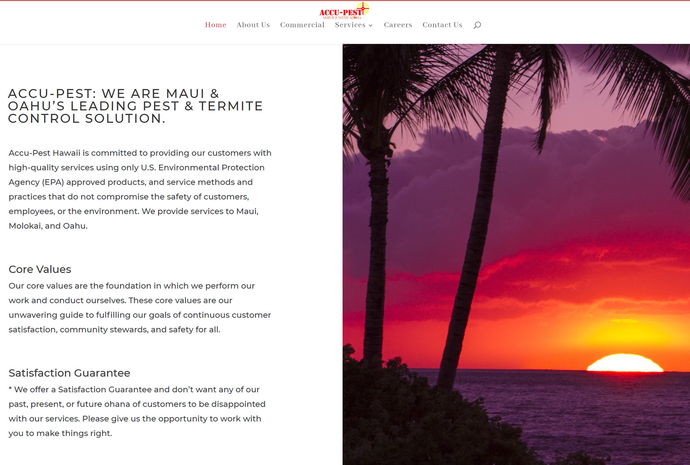website cost Hawaii