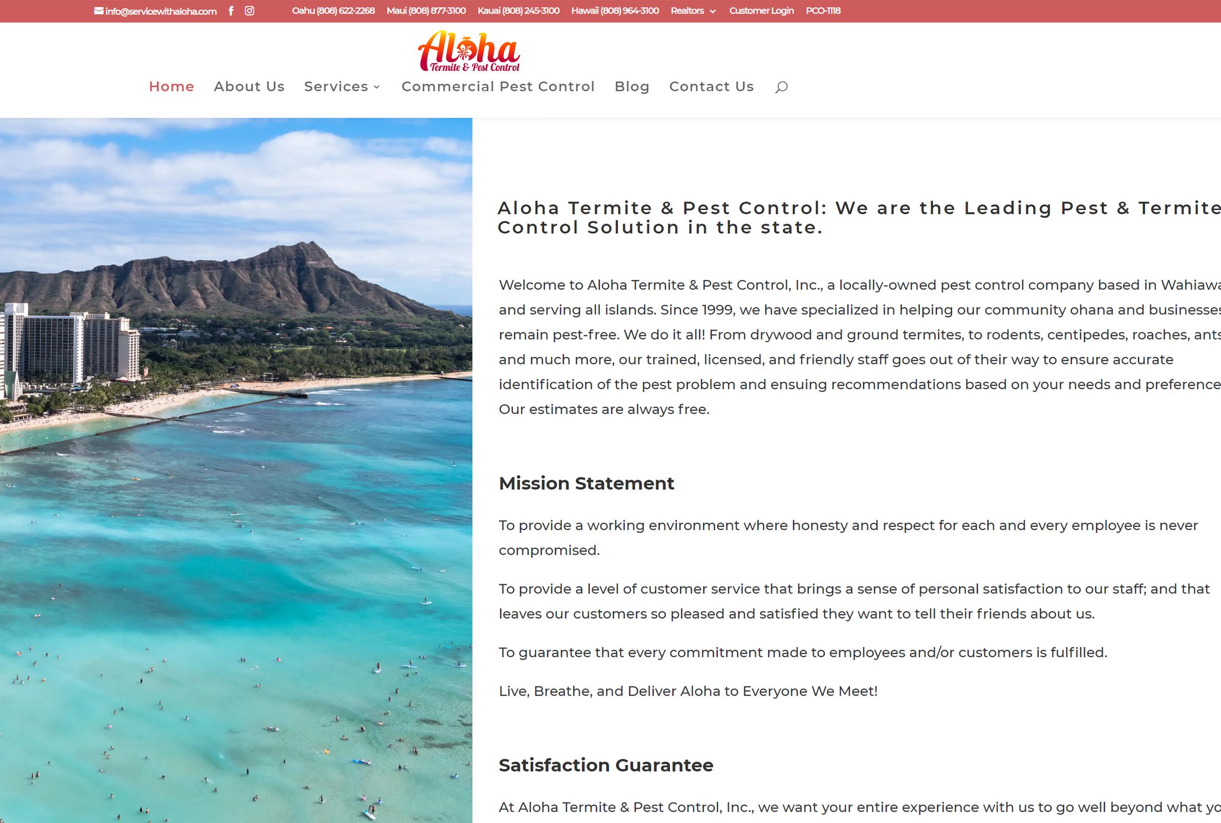 website design Hawaii